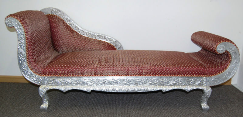 Chaise Lounge With silver metal coating