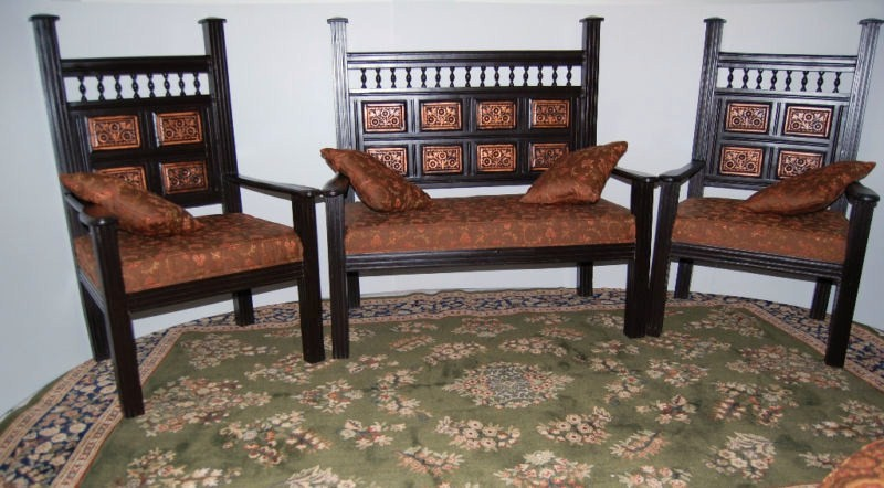 Chaniot Wooden Sofa/Three Piece Suite