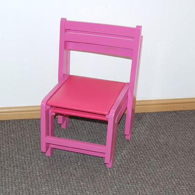 Classroom Wooden Chair Pink
