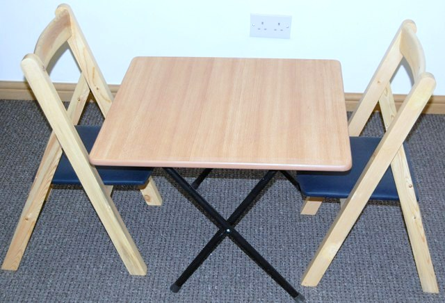 kids folding table and folding chairs