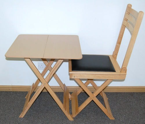 Folding Dining Cafe Bistro Table Classroom Desk