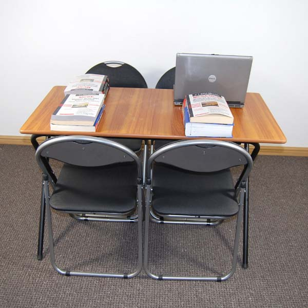 Library Folding Table Chairs