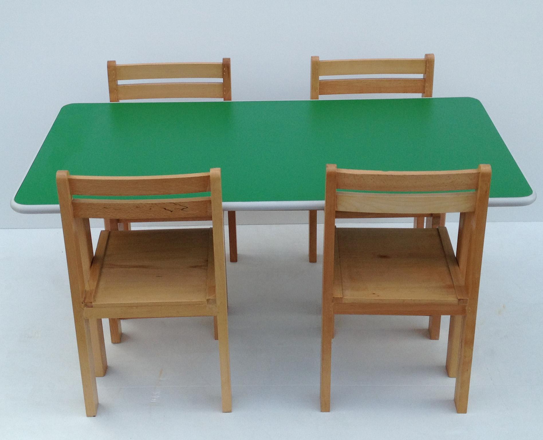 Pre School Kids Table & Chairs Classroom Desk
